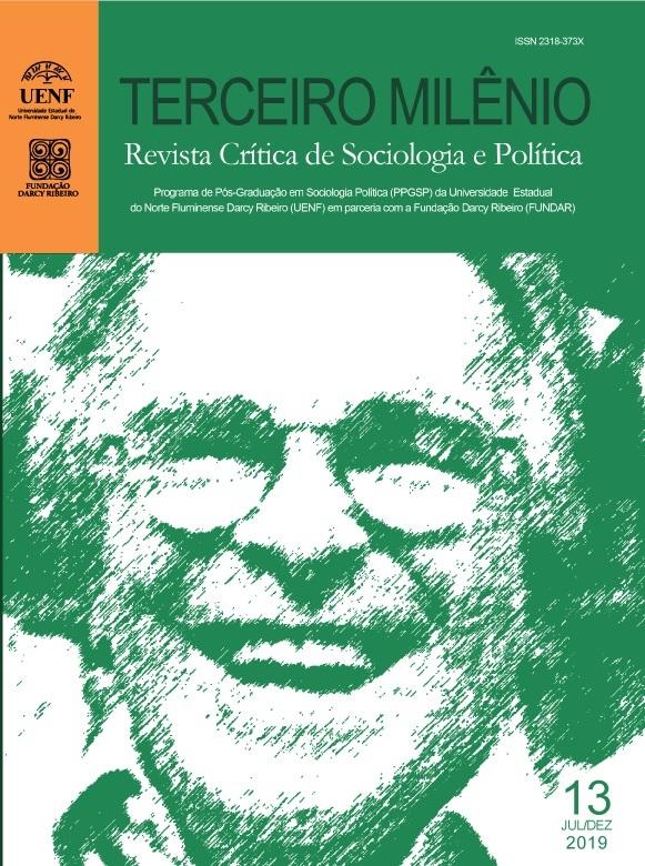 Capa de Terceiro Milênio: Revista Crítica de Sociologia e Política. Volume 13, julho a dezembro de 2019.